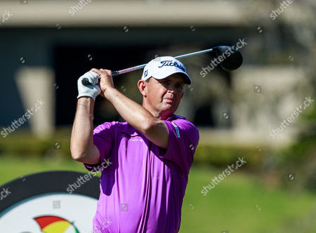 Orlando, Florida, USA-Greg Chalmers on the 16th tee during the third round of the Arnold Palmer Invitational