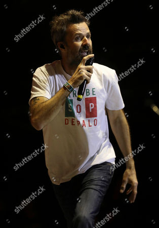 Pau Dones, vocalist of Jarabe de Palo from Spain, performs at the 18th edition of the Vive Latino music festival in Mexico City, . The Vive Latino Festival has become Latin America's biggest Latin rock celebration