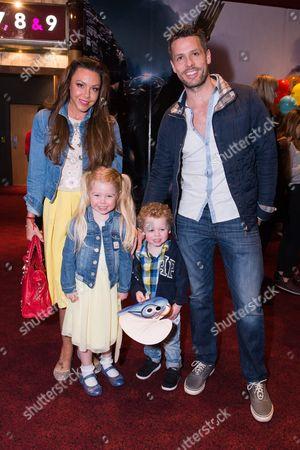 Michelle Heaton with her husband Hugh Hanley and children Faith Hanley and Aaron Jay Hanley
