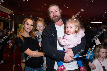 Lee Stafford with his wife Jessica Jane Clement and children Angel Stafford and Elvis Annie-Jane Stafford