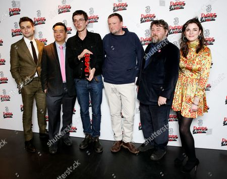 Stock Photo of Douglas Booth, Andy Hung, Jim Hosking, Ben Wheatley, Andy Starke - Best Comedy (The Greasy Strangler) and Aisling Bea