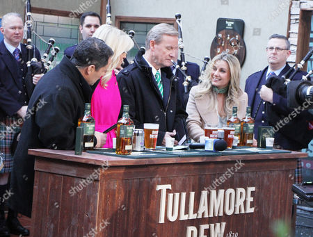 Brian Kilmeade, Ainsley Earhardt, Steve Doocy, Jane Maher ambassdor of Tullamore D.E.W. Irish Whiskey
