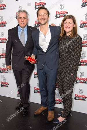 Simon Halfon, Mat Whitecross and Fiona Nielson Presenting Award Best Documentary, Supersonic
