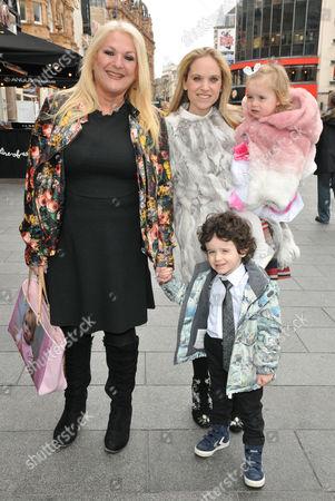 Vanessa Feltz with her daughter Allegra Feltz and grandchildren