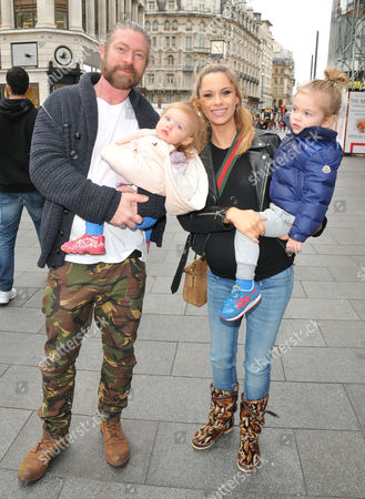 Lee Stafford, Jessica Jane Stafford and their kids Angel Stafford, Elvis Annie-Jane Stafford