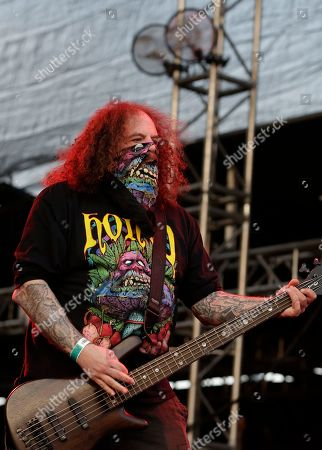 Stock Image of Shane Embury performs with Brujeria during Vive Latino in Mexico City, . The Vive Latino Festival has become Latin America's biggest Latin rock celebration
