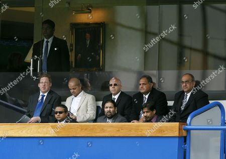 Blackburn Rovers Owners and Directors of Venky's Balaji Rao and Venkatesh Rao (front Row Right) United Kingdom London