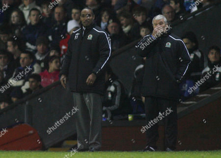 Blackburn Rovers Manager Paul Ince in Front of Assistant Archie Knox United Kingdom Blackburn