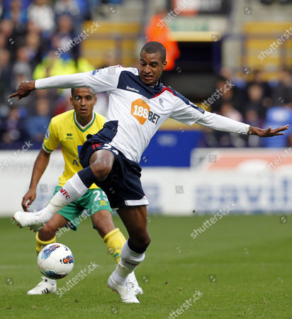 David N'gog of Bolton Wanderers United Kingdom Bolton
