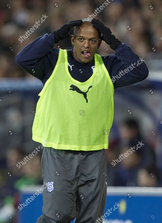 Cardiff City Striker Robert Earnshaw Does the 'Ayatollah' to the Cardiff City Fans United Kingdom Cardiff