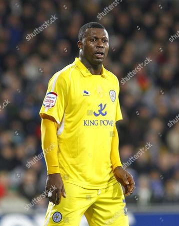 Stock Photo of Leicester City Striker Yakubu Aiyenbeni United Kingdom Cardiff