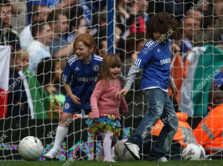 Luna Lampard Daughter of Frank (centre) Plays Football On the Pitch at Chelsea United Kingdom London