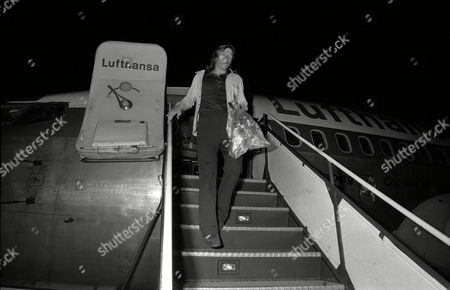 West Germany's Gunter Netzer Steps Off an Aeroplane at Munich Airport File Photo Dated 3/7/1974