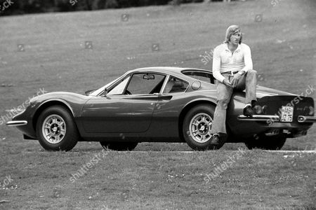 Borussia Monchengladbach's Gunter Netzer Relaxes On His Ferrari Dino 246 Gt File Photo Dated 21/09/1971