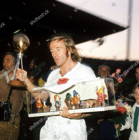 Real Madrid's Gunter Netzer with the Footballer of the Year Award File Photo Dated 1/8/1973