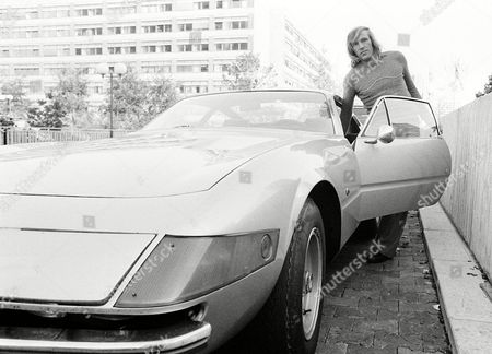 Borussia Monchengladbach's Gunter Netzer Climbs Into His Ferrari File Photo Dated 11/10/1972