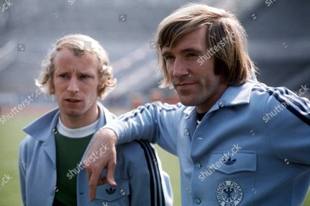 West Germany's Gunter Netzer (r) and Berti Vogts (l) File Photo Dated 15 05 1975