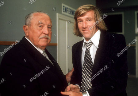 New Real Madrid Signing Gunter Netzer with Real Madrid President Santiago Bernabeu File Photo Dated 31/5/1973