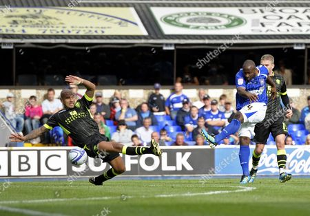 Jason Scotland of Ipswich Town Scores Past the Diving Patrick Kisnorbo of Leeds United 1-1 United Kingdom Ipswich