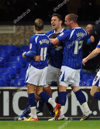 Michael Chopra of Ipswich Town Celebrates 1-0 United Kingdom Ipswich