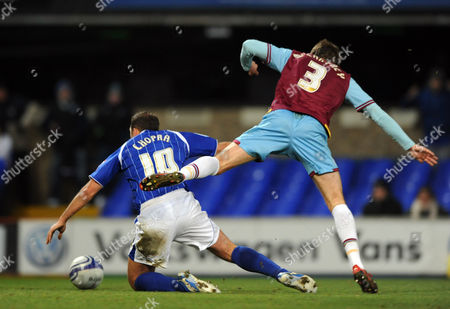Michael Chopra of Ipswich Town is Fouled by George Mccartney of West Ham United For First Half Penalty United Kingdom Ipswich