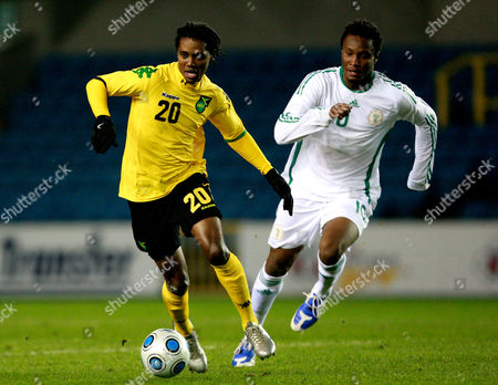 Jason Morrison of Jamiaca and Mikel Obi of Nigeria United Kingdom London