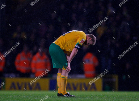 A Dejected Gary Doherty of Norwich City at the Final Whistle United Kingdom Norwich