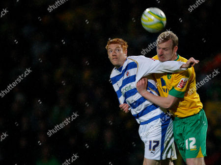 Dave Kitson of Reading and Gary Doherty of Norwich City Collide When Going For the Ball United Kingdom Norwich