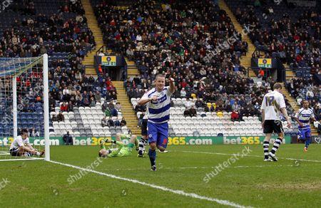 Heider Helguson of Qpr Celebrates Scoring the Opening Goal of the Game United Kingdom Preston