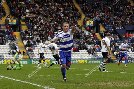 Stock Photo of Heider Helguson of Qpr Celebrates Scoring the Opening Goal of the Game United Kingdom Preston