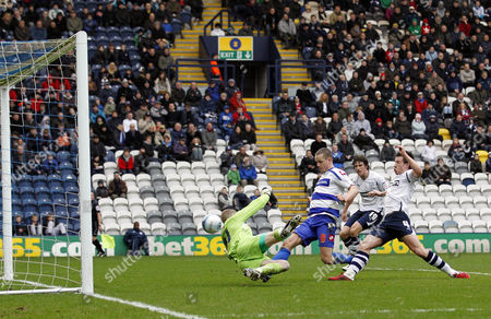 Heider Helguson of Qpr Scores the Opening Goal of the Game United Kingdom Preston