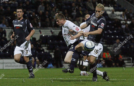 Neil Mellor of Preston North End Goes Down in the Penalty Area Under the Challenge From Garry Monk of Swansea City United Kingdom Preston