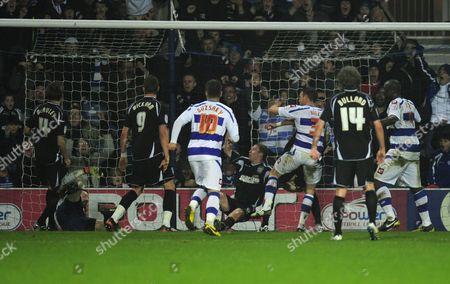 Clint Hill of Qpr Scores Past Ipswich Town Goalkeeper Marton Fulop 1-0 United Kingdom London