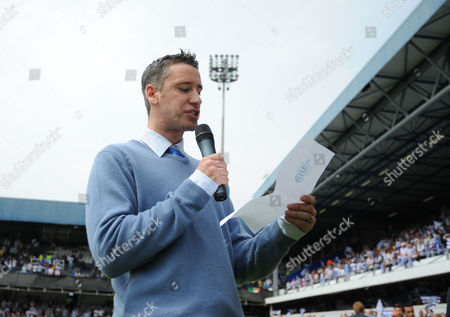 Paul Morrissey A Member of the Qpr Press Team Makes the Official Announcement That His Side Will not Be Having Points Deducted and Are Confirmed Champions Before Kick Off United Kingdom London