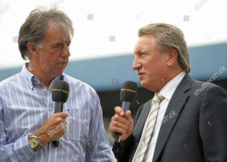 Bbc Radio Pundit Mark Lawrenson Talks to Qpr Manager Neil Warnock United Kingdom London