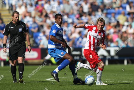 Bjorn Helge Riise of Sheffield United in Action with Mikele Leigertwood of Reading United Kingdom Reading