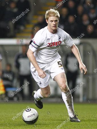 Swansea City Defender Alan Tate United Kingdom Swansea