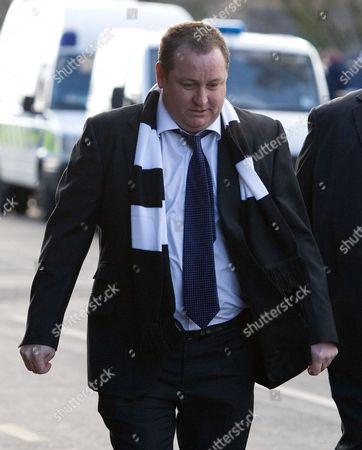 Newcastle United Owner Mike Ashley Arrives at the Hawthorns with His Head Held Low While Manager Joe Kinnear is in Hospital For Observation United Kingdom Birmingham