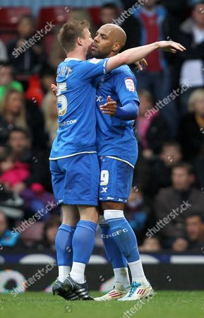 Marlon King of Birmingham City Celebrates Scoring the Second Goal with Wade Elliot 0-2 United Kingdom London