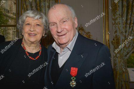 Michel Bouquet and wife Juliette Carre