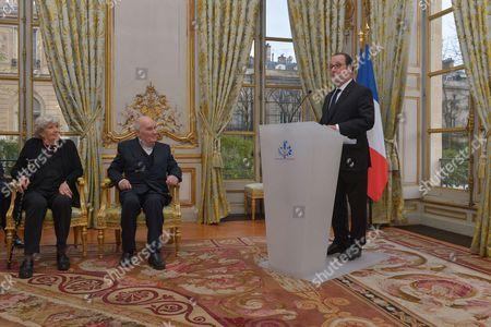 Michel Bouquet and President Francois Hollande