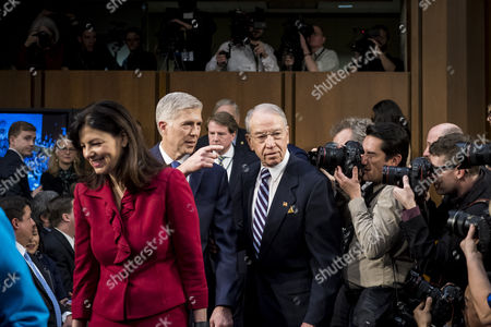Neil Gorsuch, Kelly Ayotte and Chuck Grassley
