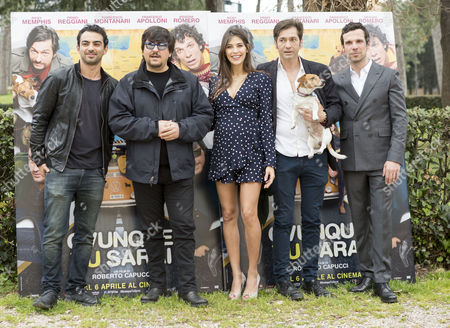 Primo Reggiani, Ricky Memphis, Ariadna Romero, Francesco Apolloni and Francesco Montanari,
