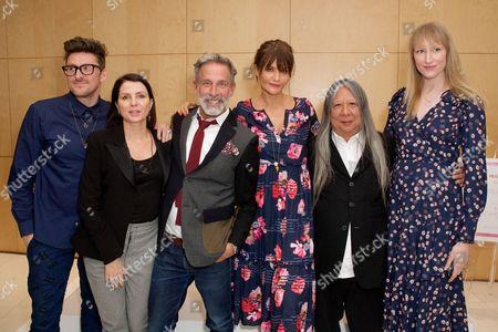 Stock Photo of Henry Holland, Sadie Frost, Ben De Lisi, Helena Christensen, John Rocha and Jade Parfitt