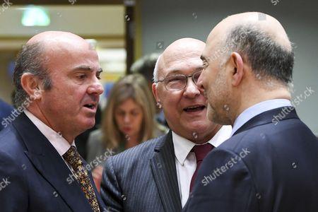 Michel Sapin / Luis De Guindos Jurado / Pierre Moscovici