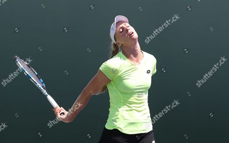 Great Britain's Naomi Broady shows a look of Dejection as she  loses to Marina Erakovic from New Zealand in First Qualifying Round at the Miami Open Key Biscayne on Monday  20th March 2017