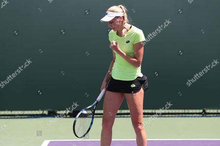 Great Britain's Naomi Broady loses to Marina Erakovic from New Zealand in First Qualifying Round at the Miami Open Key Biscayne on Monday  20th March 2017