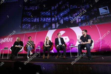 Nikki Austen (Brand and Innovation Consultant, The Future Laboratory), Rebecca Holman (Editor, The Debrief, Bauer Media), Charlie Hedges (DJ, Kiss FM), Paul Davies (Consumer Marketing Director, Microsoft) and Matt Rennie (Managing Director, The Box Plus Network)