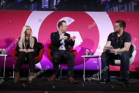 Charlie Hedges (DJ, Kiss FM), Paul Davies (Consumer Marketing Director, Microsoft) and Matt Rennie (Managing Director, The Box Plus Network)