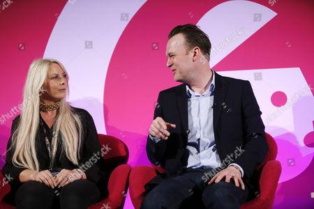 Charlie Hedges (DJ, Kiss FM) and Paul Davies (Consumer Marketing Director, Microsoft)